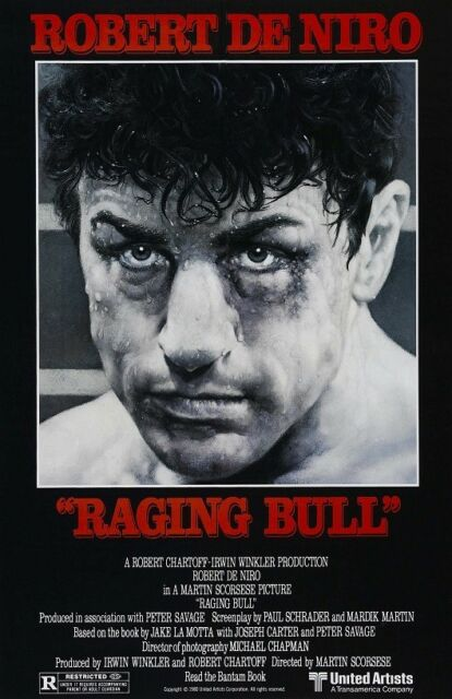 RAGING BULL movie poster ROBERT DE NIRO poster 11 x 17 inches