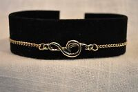 Treble Clef Music Note Bracelet-gold Plated