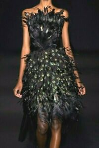 New-11-400-Alberta-Ferretti-Feather-Embroidered-Gown-Runway-Dress-US-6-IT-42