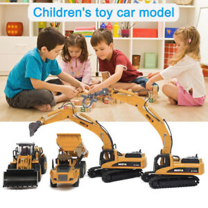1-50-Scale-Dump-Truck-Alloy-Toy-Diecast-Construction-Vehicle-Car-Lorry-Model