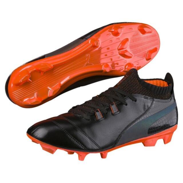 541ba9e1a New Puma ONE Lux FG Soccer Cleats Men's Size 7-13 Black/Orange 104055