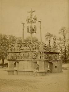 N-D-France-Plougastel-Daoulas-le-Calvaire-Vintage-albumen-print-France-Ti
