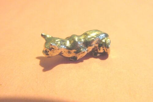 Pewter Cat  Figurine With Crystal Ball
