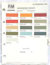 Item 1 1973 International Truck R M Color Paint Chip Chart All Models