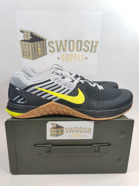 Nike metcon volt dsx flyknit confezioni nero volt metcon gomma 852930 003 crossfit abaf1e