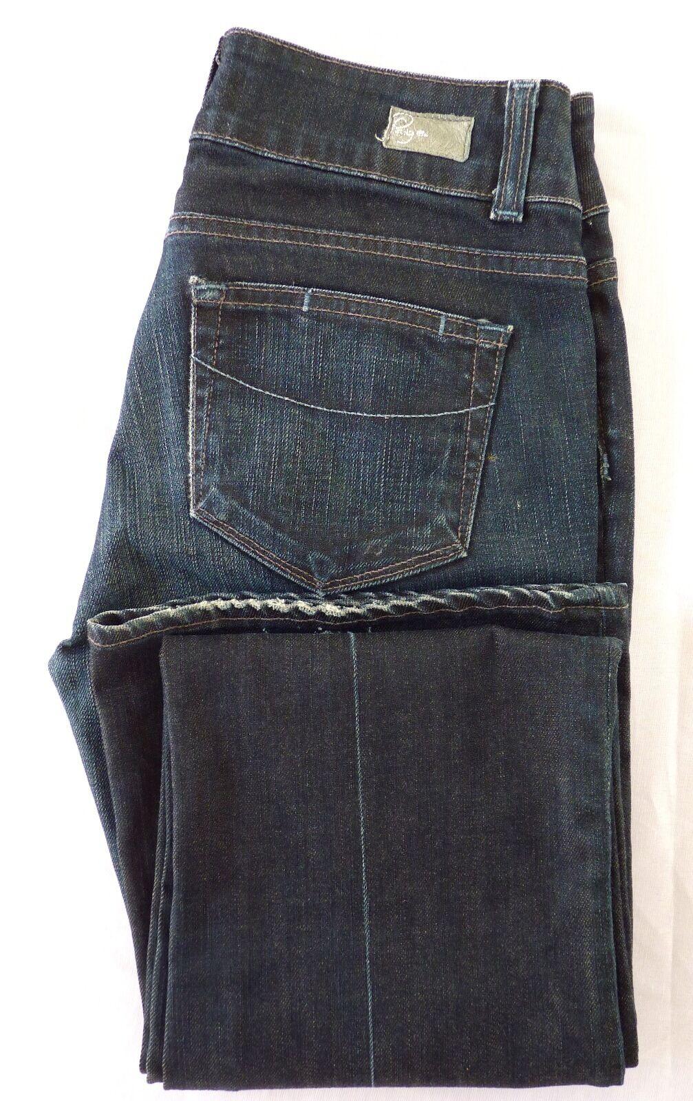 Paige Premium Denim Hidden Hills Boot Cut bluee Jeans Cotton Blend Size 28 MINT
