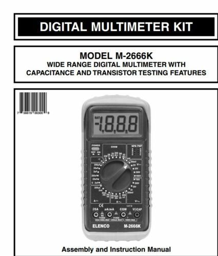 ELENCO M-2666K DELUXE DIGITAL MULTIMETER DIY SOLDERING KIT