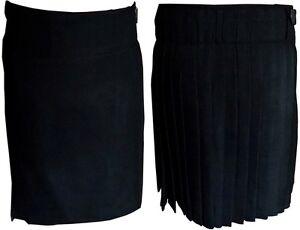 BLACK SCOTTISH MENS KILT HIGH QUALITY TARTAN KILTS TRADITIONAL HIGHLAND DRESS