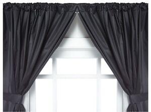 Carnation Home Fashions Vinyl Bathroom Window Curtain 2 Panels With Tie Backs Ebay