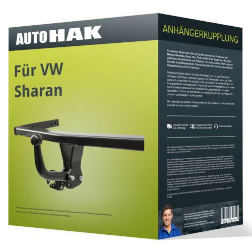 Starre Anhängerkupplung für VW Sharan 06.2012-jetzt 7N Auto Hak NEU EBA EC 94//20