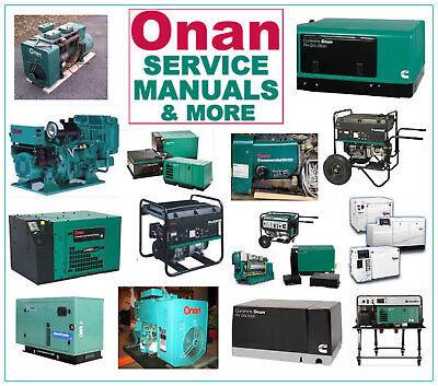 Onan AJ GenSet Generator RV PARTS MANUAL 33 MANUALS On A