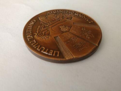 Vintage  UNIVERSITY VILNIAUS LITHUANIA BRONZE MEDAL COIN MEDALLION MAIRONIS