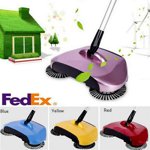 Details About Hand Push 360 Rotary Home Use Magic Manual Telescopic Floor Dust Sweeper Fedex