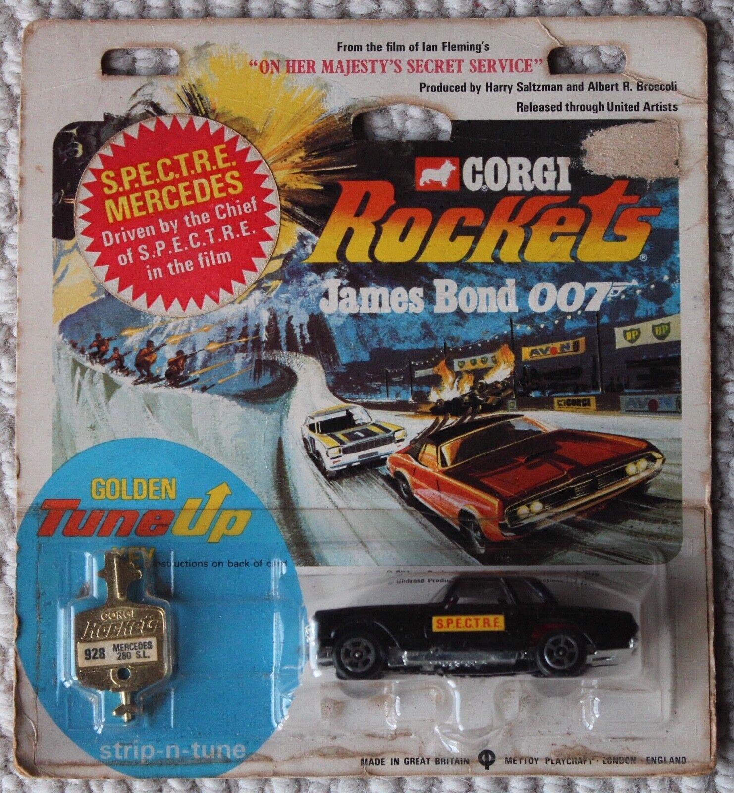 Corgi cohetes James Bond Mercedes OHMSS 928 Spectre Mercedes Coche Mettoy