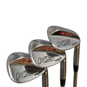 Majek-Golf-Senior-Men-039-s-Wedge-Set-52-Gap-Wedge-GW-56-SW-60-LW-Senior-Flex