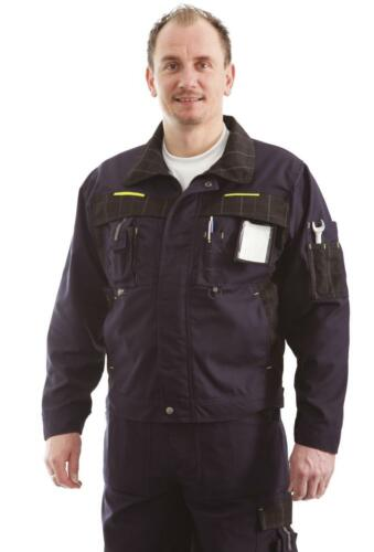 48-60 Jacke Gr Profi Arbeitsjacke Bundjacke blau  Nano-Beschichtung