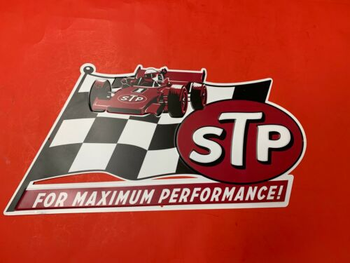"STP FOR MAXIMUM PERFORMANCE Garage Vintage Wall Decor Large Metal Sign 17.5/""X10/"""