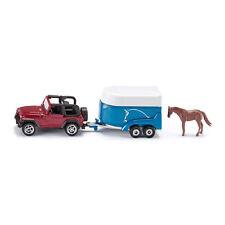 Siku 1651 Jeep Wrangler mit Pferdeanhänger rot metallic (Blister) NEU!°