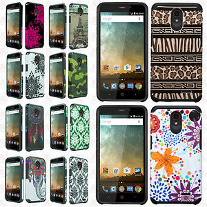 best website 6efc2 8577a Details about Cricket ZTE Sonata 3 Z832 HARD Hybrid Rubber Silicone Case  Phone Cover Accessory