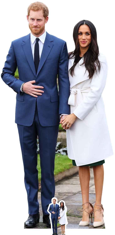 Prinz Harry Harry Harry Meghan Markle Verlobung Stil Pappfigur Beschädigt | Überlegen  | Feinen Qualität  02ef40