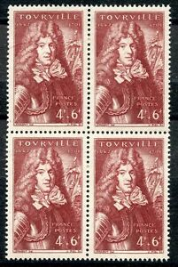STAMP-TIMBRE-FRANCE-NEUF-N-600-BLOC-DE-4-TIMBRES-MARECHAL-ANNE-HILARION