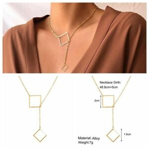 1pcs Women/'s Crystal Choker Chunky Statement Chain Bib Pendant Necklace Jewelry