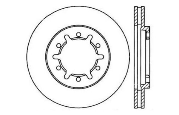 Centric Parts 121.42067 C-Tek Standard Brake Rotor