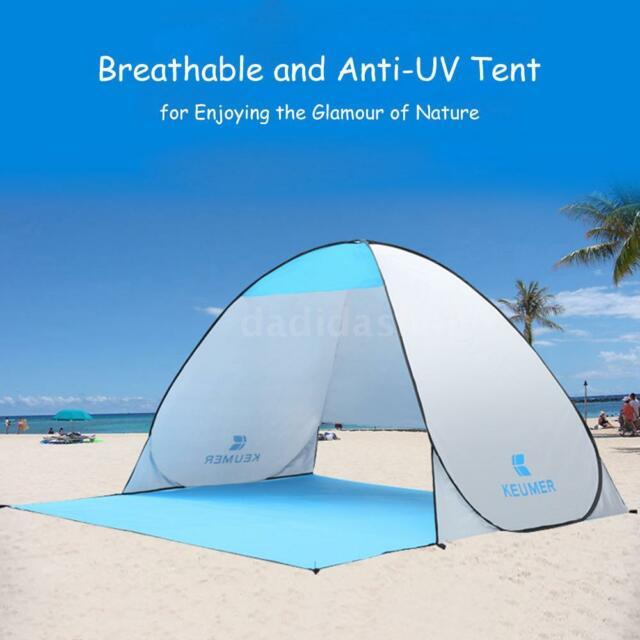 Automatic Pop-up Beach Tent Anti-UV Protective Shelter Fishing Camping Sun Shade