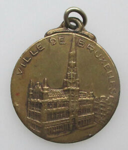 Belgie-Medaille-1935-Exposition-Universelle-Bruxeles-Stadhuis-25mm