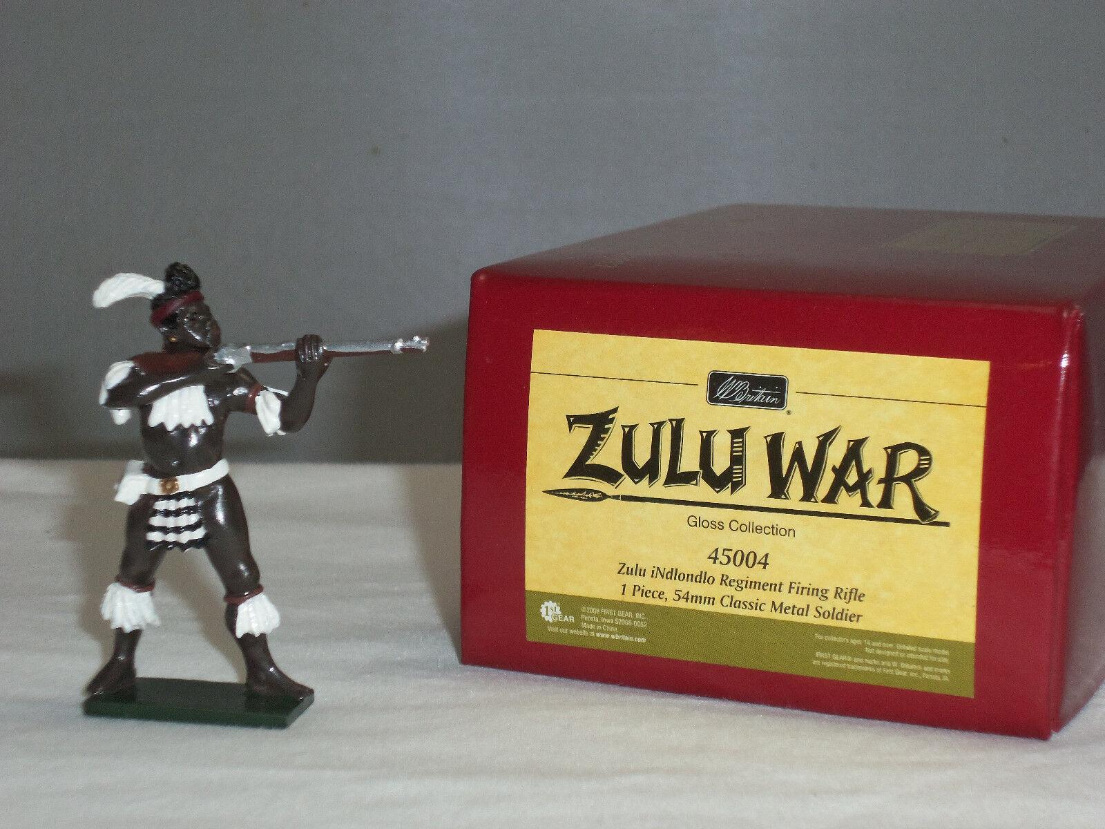 BRITAINS 45004 ZULU WAR INDLONDO REGIMENT WARRIOR STANDING FIRING TOY SOLDIER