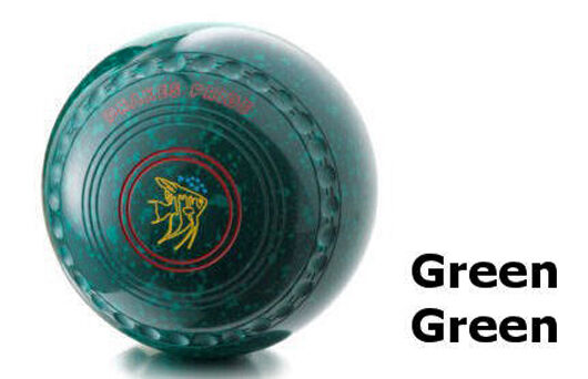 DRAKES PRIDE XP FLAT GREEN PROFESSIONAL GREEN WITH GREEN SPEC BOWLS  B3244C