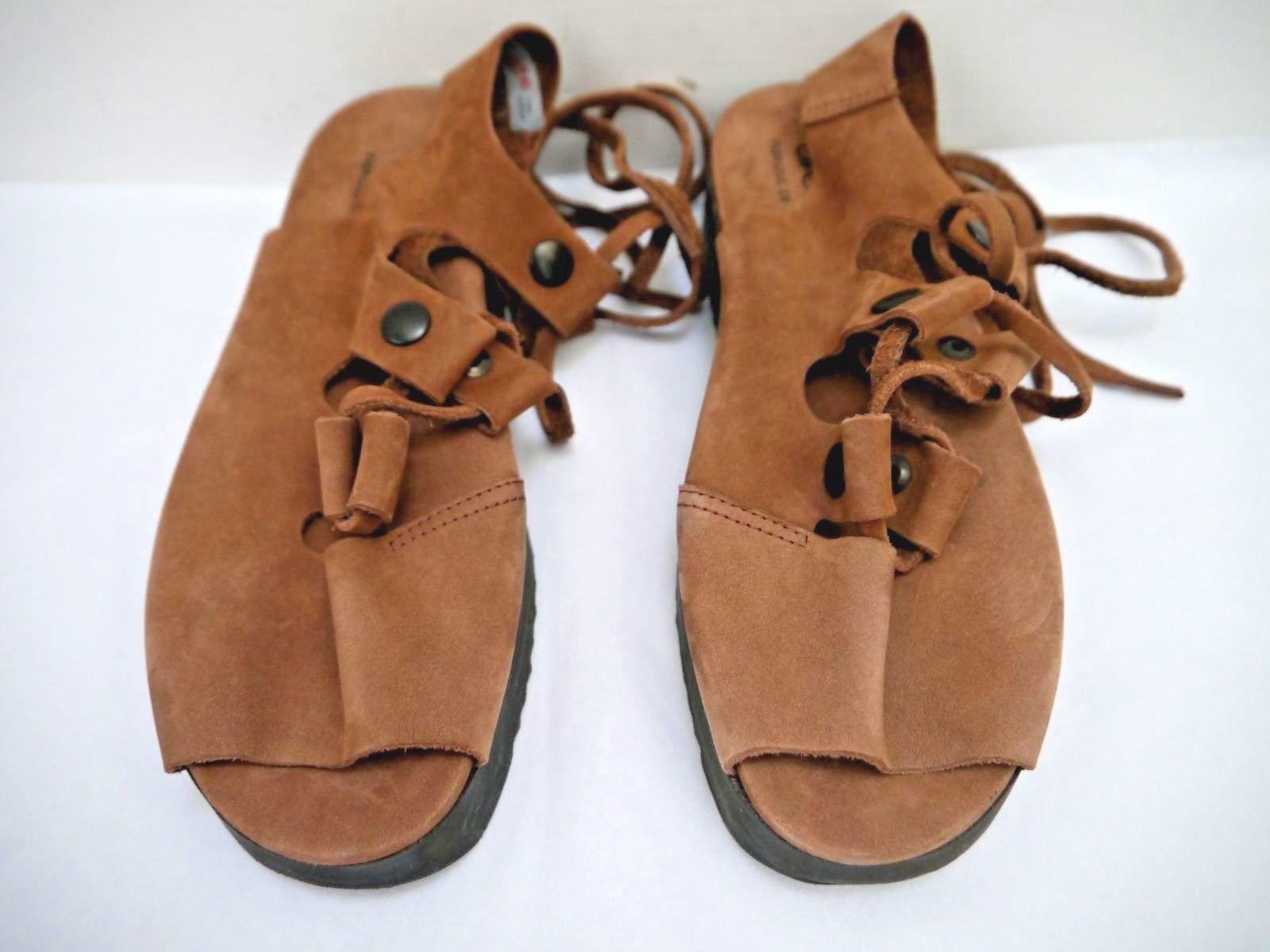 ARCHE brown nubuck pelle lace-up sandals size 37