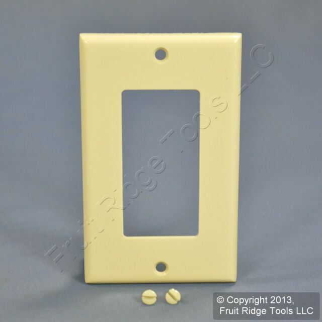 3 New Leviton Almond UNBREAKABLE Decora Wallplates GFCI GFI Nylon Cover 80401-NA