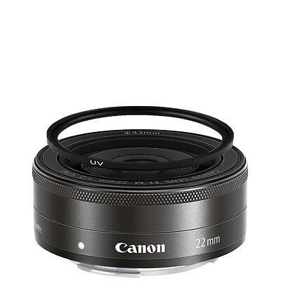 Canon EF-M 22mm f/2 STM Lens w/43mm UV Filter