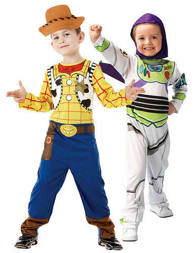 Disney Buzz or Woody Toy Story Boys Costume Book Week Fancy Dress Character New