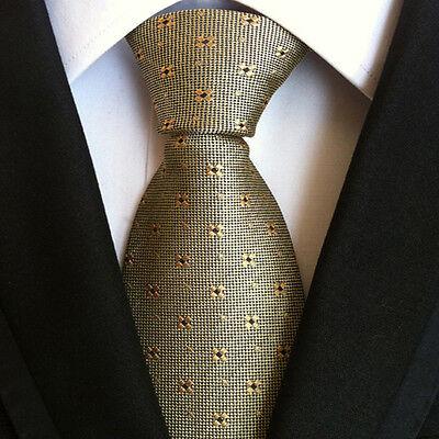 (nt111) 100% Seta Cravatta Floreale Giallo Uomo Matrimonio Ufficio Festa Formale Uomini Cravatta-mostra Il Titolo Originale