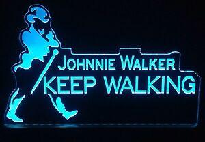 Johnnie Walker LED signo, edgelit, Bar, MANCAVE, Control Remoto, Luz, Regalo, alcohol  </span>