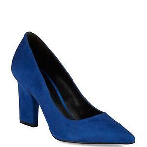 a4b2cfde3c1 Nine West U Go Girl Blue Leather Suede Pointed Toe Dress Pumps 6 M ...