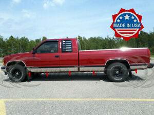 Works with 1988-1998 Chevy Pickup Ext Cab 2Dr Long Bed W//Fender Flare Rocker Panel 6.25 10Pc Made in USA