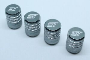 4x Valve Cap for FORD Aluminium Dust Caps for FORD ST Brand New Silver Check
