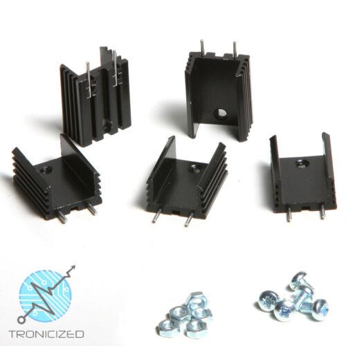 TO220 TO-220 Dissipatore di calore in lega-confezioni vari formati per regolatori di voltaggio PIN etc