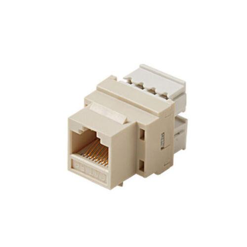 Eagle CAT5E Keystone Jack Ivory Insert RJ45 Punch Down 8P8C Network Ethernet