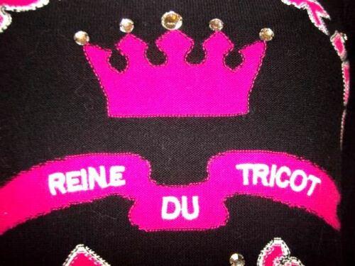 m Ts Rykiel Sonia Reine H 36 Pour Tricot Du Cabochons 38 Pull UtzHnOxwdz