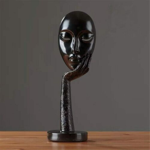 Modern Human Abstract Lady Face Character Resin Statue Sculpture Home Art Crafts