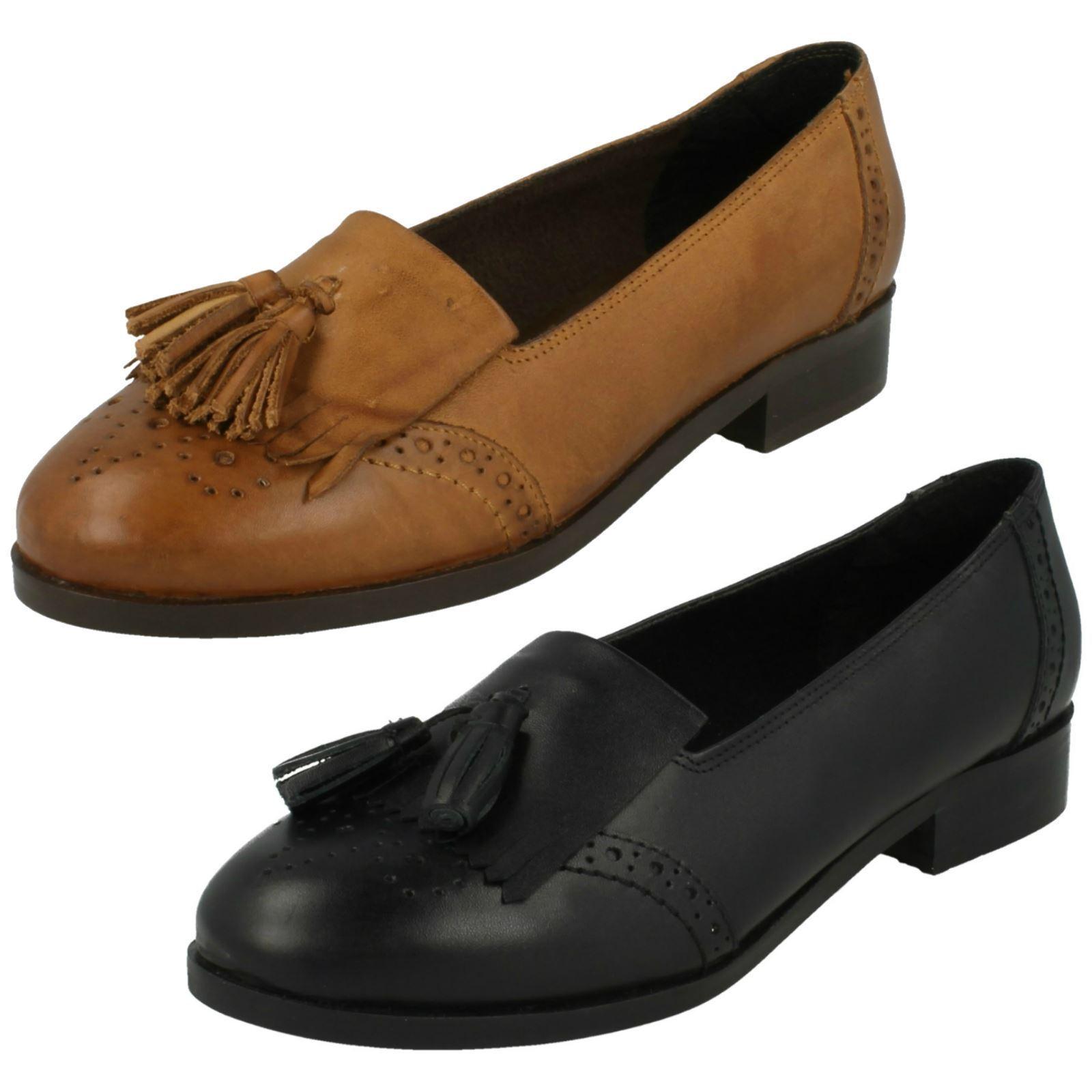 Moda barata y hermosa Descuento por tiempo limitado f80181- Leather Collection Para Mujer Sin Cordones Mocasín 2 colores- Gran