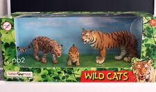 Safari Ltd  WILD CATS  jungle tiger tiger cub jaguar 3pcs  3yrs+  unisex  NISB