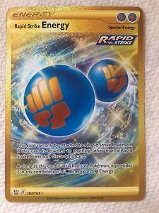Rapid Strike Energy(Secret Rare) Battle Styles Pokemon Card(Sleeved).