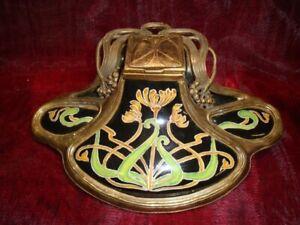 Calamaio Fiore Stile Art Deco Stile Art Nouveau Porcellana Bronzo Ceramica