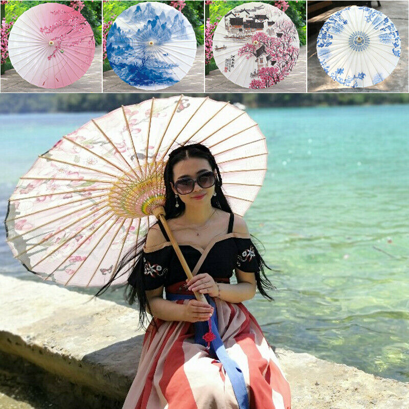 Chinese Art Rainproof Oil Paper Umbrella Shop Wedding Decoration Parasol Gifts