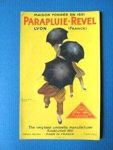 ETIQUETTE-PUBLICITE-PARAPLUIE-REVEL-UMBRELLA-ILLUSTRATION-CAPPIELLO-AD-1922